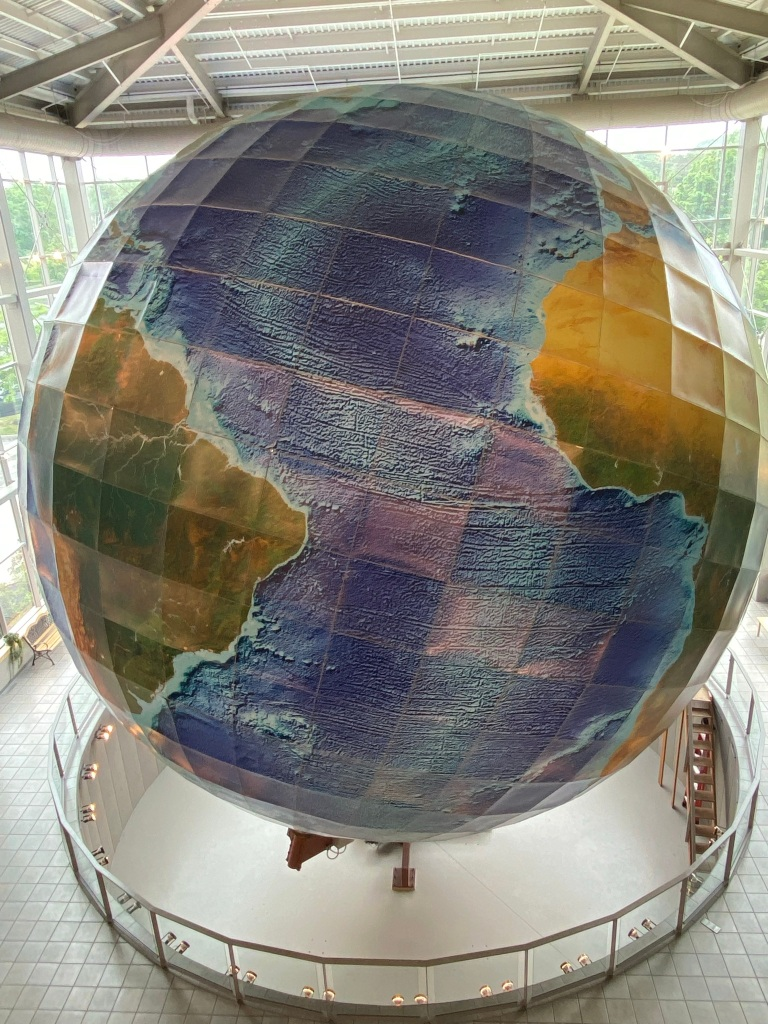 eartha yarmouth maine rotating globe